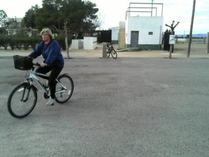 Jo on her Giant mountain bike