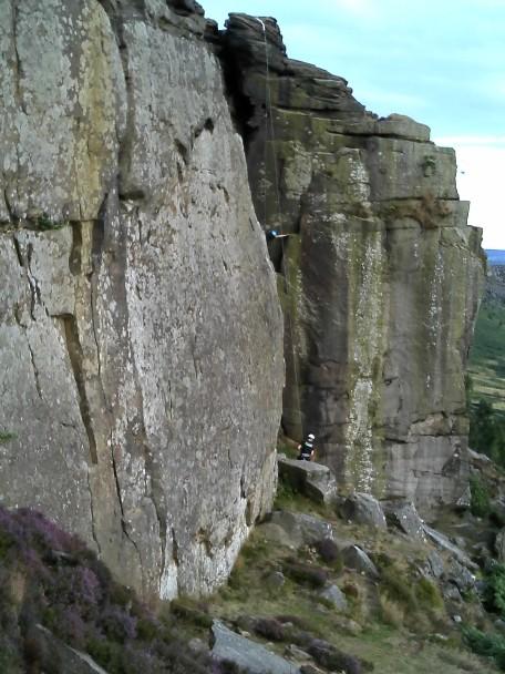 Climbers on Durbar Ridge, Peak District National Park, Derbyshire