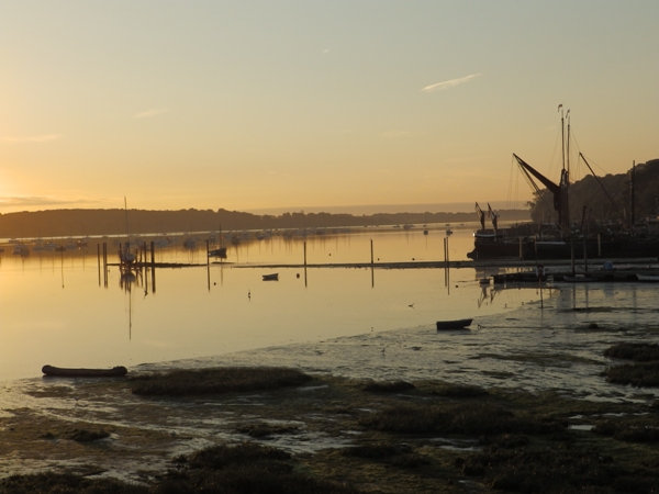 Sunrise over the River Orwell at Pin Mill