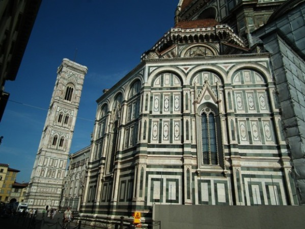 The Duomo. They have cleaned the bottom section. You can clearly see the difference